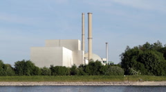 Nuclear power station Philippsburg Stock Footage