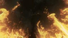 Flames of fire loop Stock Footage