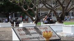 Tuol Sleng Museum Cambodia_LDA_N_00129.MOV Stock Footage