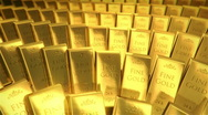 Stock Video Footage of gold bars - loop