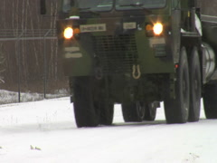 Army transport vehicle Stock Footage