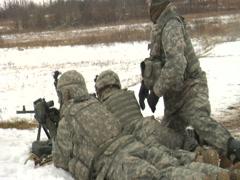 Army Machine Gunner 2 Stock Footage