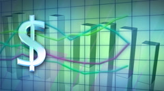 Looping business statistic background Stock Footage
