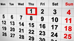 Lapse of time calendar 3d Stock Footage