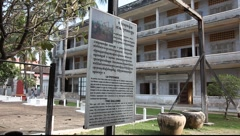 Tuol Sleng Museum Cambodia_LDA_N_00138.MOV Stock Footage