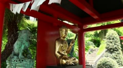 Buddha Tempel in a tropical Garden 20110422 151242 Stock Footage