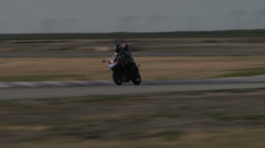 Speed Racing Bike Rider on Back 2 Stock Footage