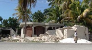 Stock Video Footage of Earthquake Damaged Home in Haiti c