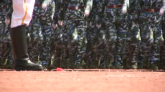 Marching legs in China Stock Footage