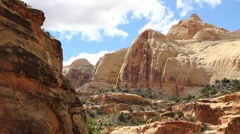 Slickrock of Capitol Reef Stock Footage