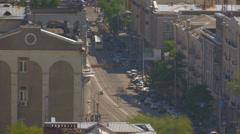 Daylight city traffic - stock footage