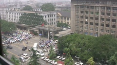 Police and demonstrators - China Stock Footage