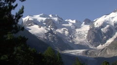 Bernina Glacier Stock Footage