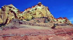 Desert cliffs in Souther Utah Stock Footage