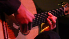 Guitar Fretboard Close Up Stock Footage