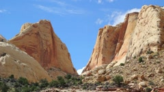 Cliffs of Capitol Reef National Park Stock Footage