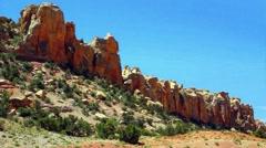 Burr Trail Southern Utah Panning Shot Stock Footage