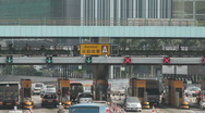 Cross-Harbour Tunnel Toll station 02 Stock Footage
