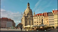 Dresden Frauenkirche Cathedral, Germany Stock Footage