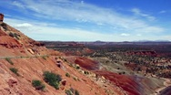 Beautiful Desert Landscape Panning Shot Stock Footage