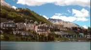Stock Video Footage of Lake St.Moritz, Engadin, Switzerland