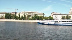 River Bus. Fast Motion Stock Footage