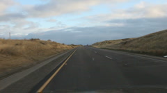 Driving Fast Between Rocky Landscape Stock Footage