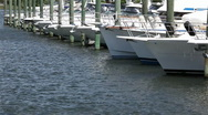 Boats  line Stock Footage