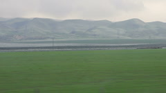 Farmland and Mountains Stock Footage