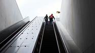 Escalator to adventure Stock Footage