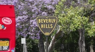 Stock Video Footage of Beverly Hills Sign 06 HD