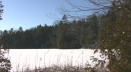 Winter around the frozen lake. Stock Footage