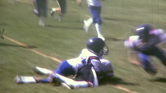 KIDS PLAY Jr High School Football Sport TACKLE TEAM 1970 Vintage Film Home Movie - stock footage