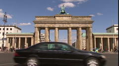 Berlin Brandenburg Gate Stock Footage
