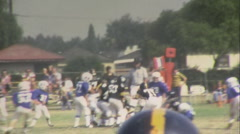 50 YARD LINE Jr. High School Football TEAM KIDS 1960s Vintage Film Home Movie - stock footage