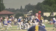 50 YARD LINE Jr. High School Football TEAM KIDS 1960s Vintage Film Home Movie Stock Footage