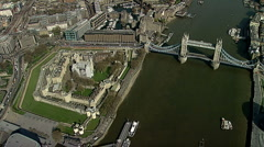 Stock Video Footage of Aerial shot Tower of London