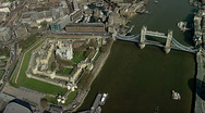 Aerial shot Tower of London Stock Footage