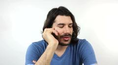 Bad News On Phone - stock footage