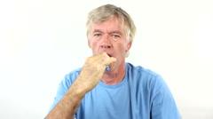 Man Brushes Teeth Stock Footage