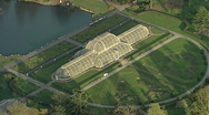 Aerial kew Gardens London Stock Footage