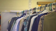 Stock Video Footage of MS shirts on hangers
