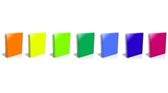 Conceptual video choose color of the Binder - stock footage