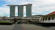 Stock Video Footage of Marina Bay Sands