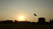 Stock Video Footage of Ho Chi Minh Mausoleum Sunset WS