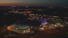 Aerial Distant Casino Lights Stock Footage