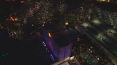 Aerial Casino Lights - stock footage