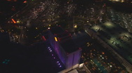 Aerial Casino Lights Stock Footage
