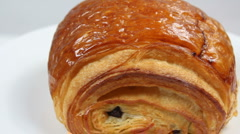French Chocolate Croissant Stock Footage