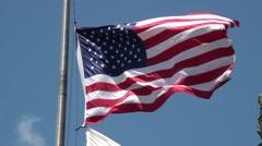 american flag-NTSC - stock footage